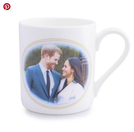 One of the UK mugs with a photograph of Prince Harry and Meghan Markle at their wedding,